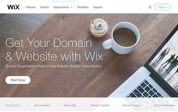 Starting a website is easy with Wix