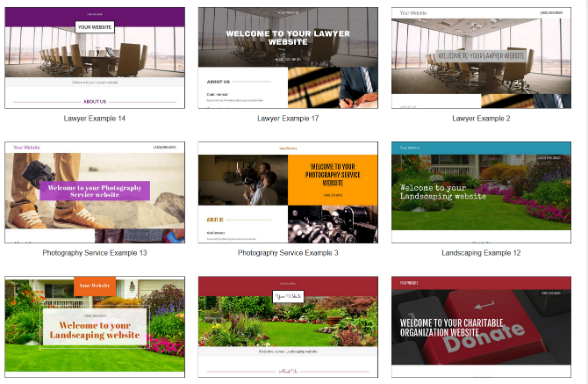 GoDaddy has hundreds of website templates to choose from