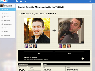 Make a true connection on Zoosk