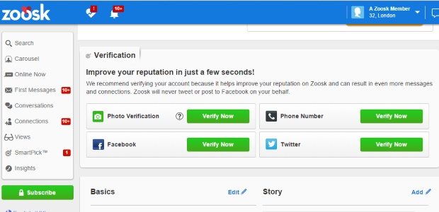 Zoosk's new feature ensures your details are protected