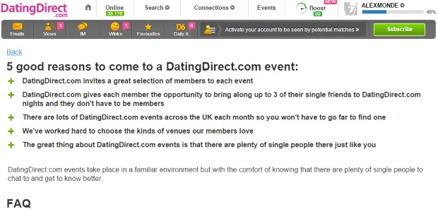 Dating Direct Extra Features