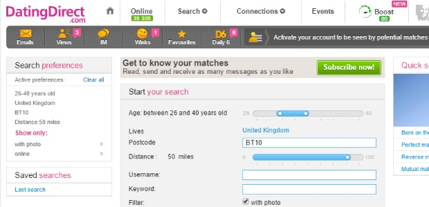 Dating Direct Search Tools