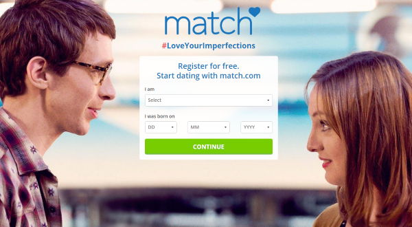 Sign up to match.com
