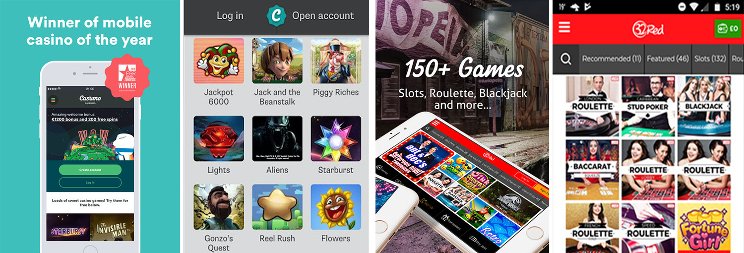 Both 32Red and Casumo have great software, graphics and a ranges of games