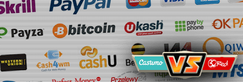 32Red and Casumo offer different payment methods