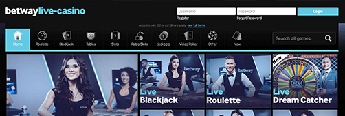 Betway has a wide range of casino games
