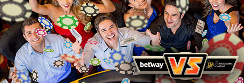 Betway is the overall winner in the showdown between Betway and Hippodrome