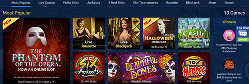 Casino of Dreams offers a huge variety of games
