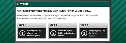 Join Paddy Power's Casino Club for VIP perks