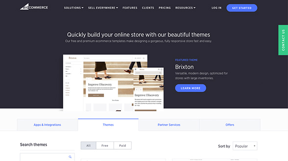 BigCommerce has a variety of templates that are customizable