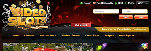 Find your favourite slots at Videoslots