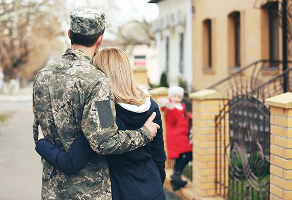 Military service men and women purchasing homes