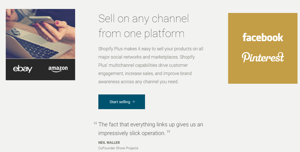 Sell products on multiple channels with Shopify Plus