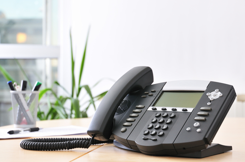 Black voip phone ready to streamline your business