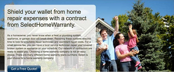family feeling lucky with Select home warranty coverage plans