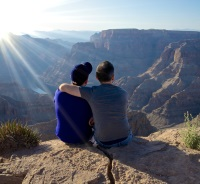 Gay Date Overlooking a Canyon