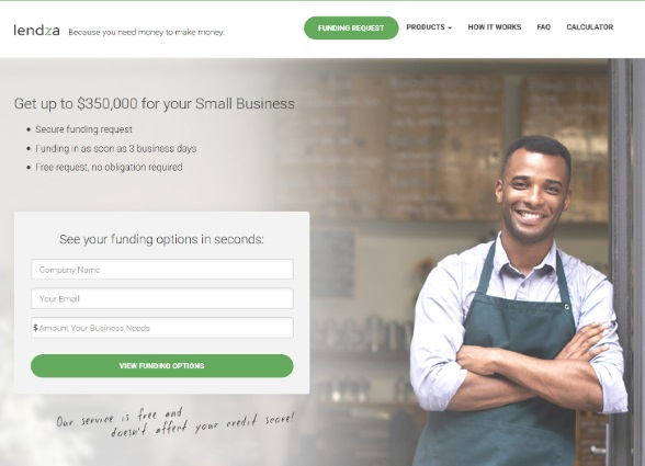 Lendza small business funding