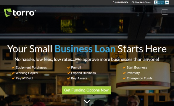 Torro small business funding