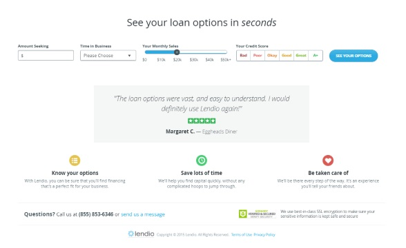 See Your Small Business Lendio Loans in Seconds