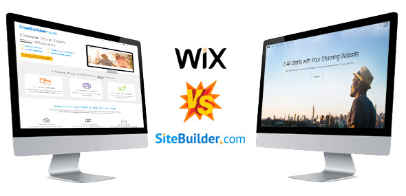 Compare the features of Wix and SiteBuilder