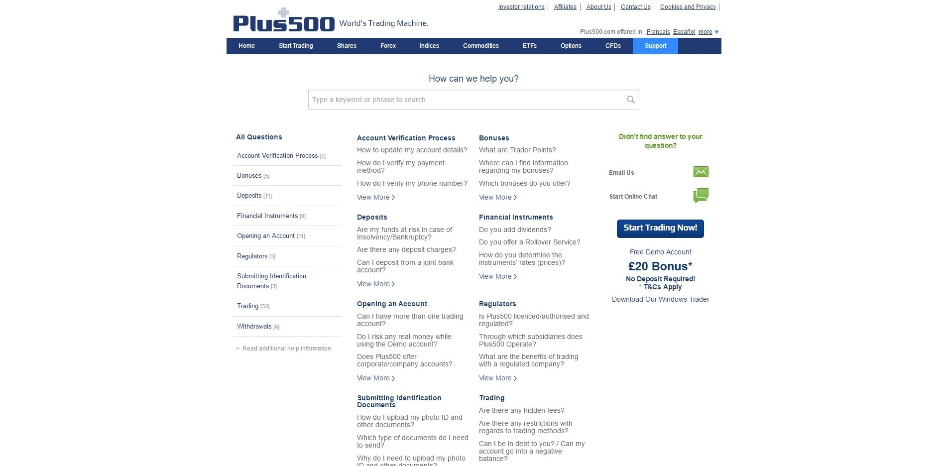 Trade at Plus500 Forex Trading