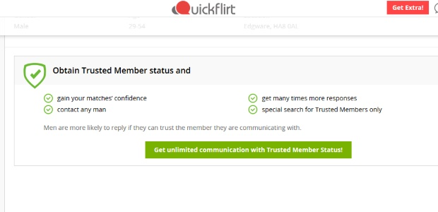 QuickFlirt Safety Features