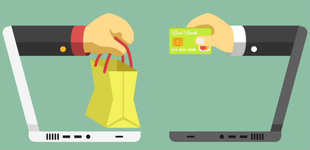 Illustration of an online ecommerce transaction