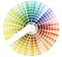 The color wheel to help choose website colors
