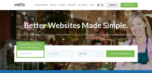 Webs free website builder for small businesses