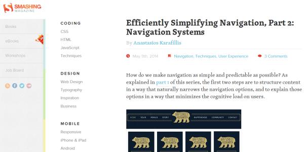 Web design blogs – Smashing Magazine