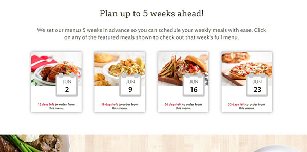 plan ahead with homechef
