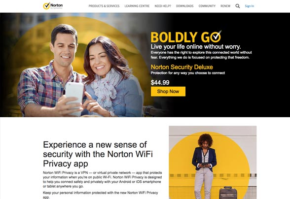 Experience a new sense of security with Norton