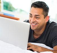 Man on Christian chat room in online dating site