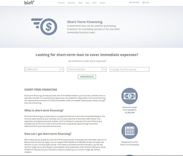 Get funds fast with Bizfi