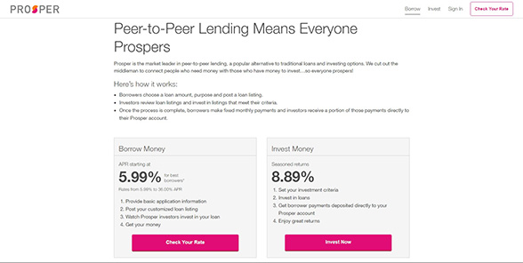 Everyone prospers with peer to peer lending