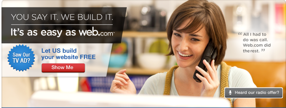 Web.com offers do-it-for-me website building services