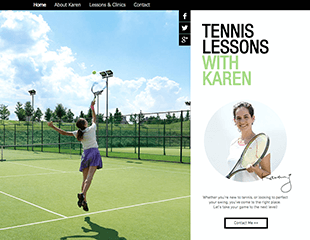 WIX Tennis Lessons Template