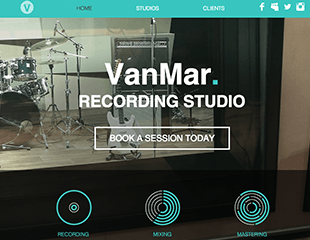 WIX Music Studio Template