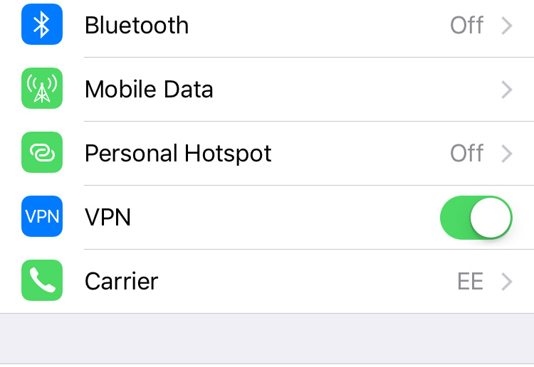 Change settings to turn on your VPN