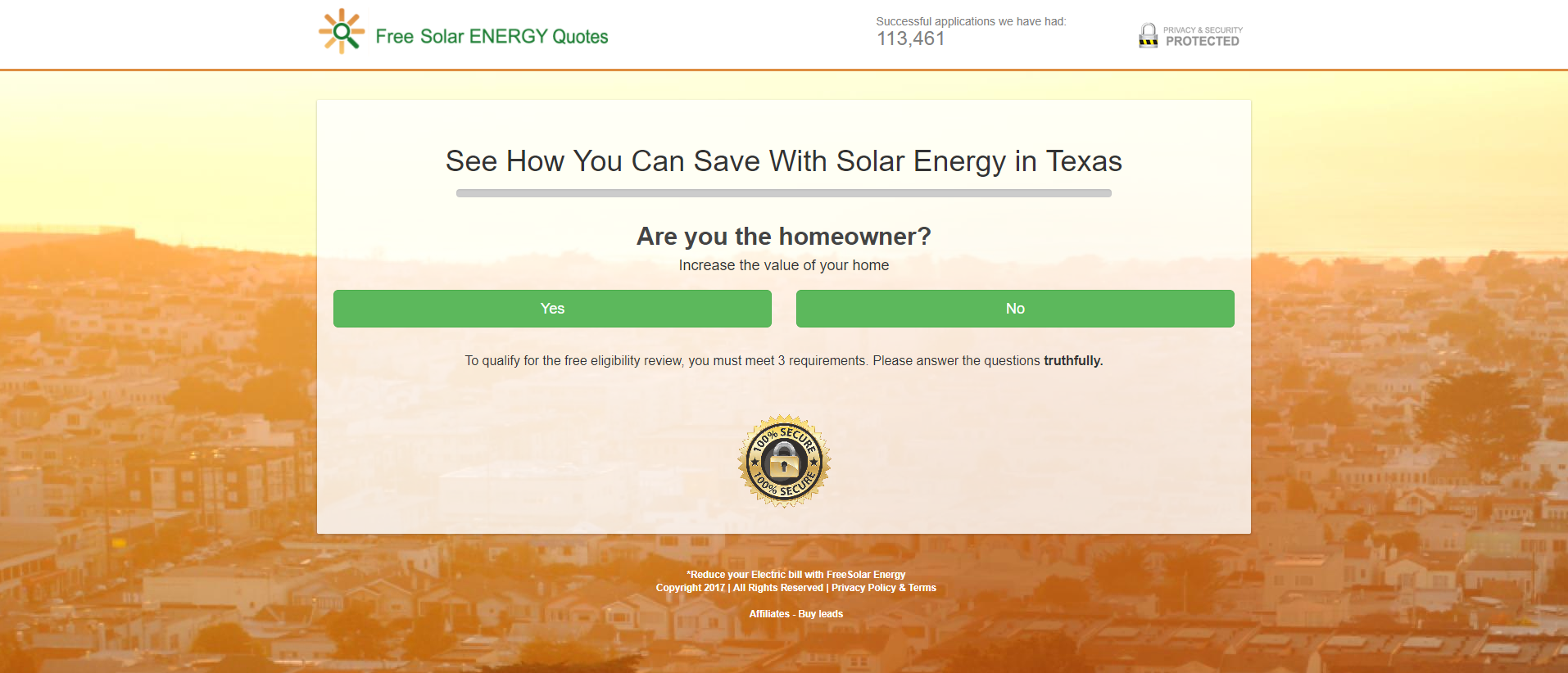 see how much money you can save with Free Solar Energy