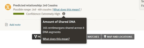 Ancestry predicted relationships feature