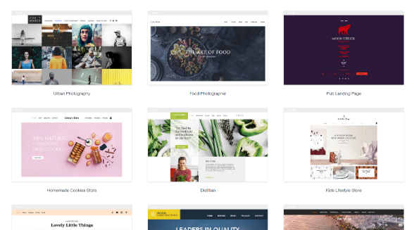 Wix has hundreds of beautiful templates to choose from