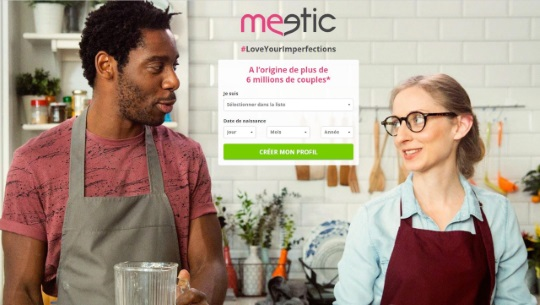 copie d'écran du site Meetic