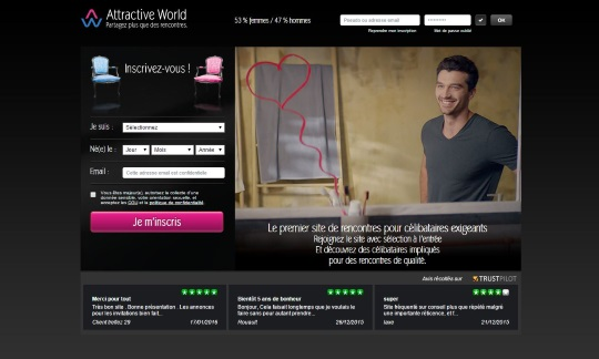 copie d'écran du site Attractive World