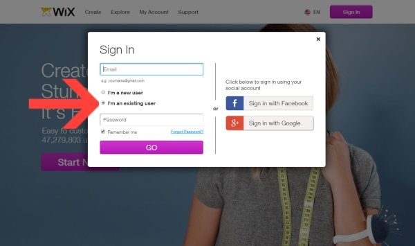 wix login - signing into Wix