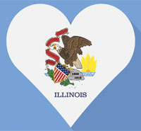 Romantic places in Illinois to date