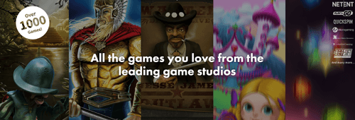 Enjoy games from leading game studios and software providers like NetEnt and Microgaming