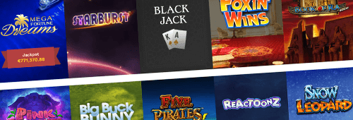 Casumo has a wide range of casino games to choose from, including slots and blackjack