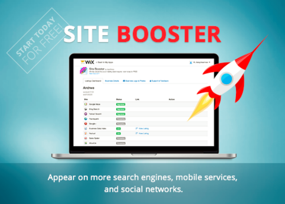 Wix Site Booster App: free for subscribing to annual or 2-year deals