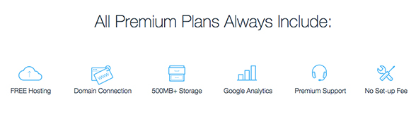 Wix Premium plans include extra features
